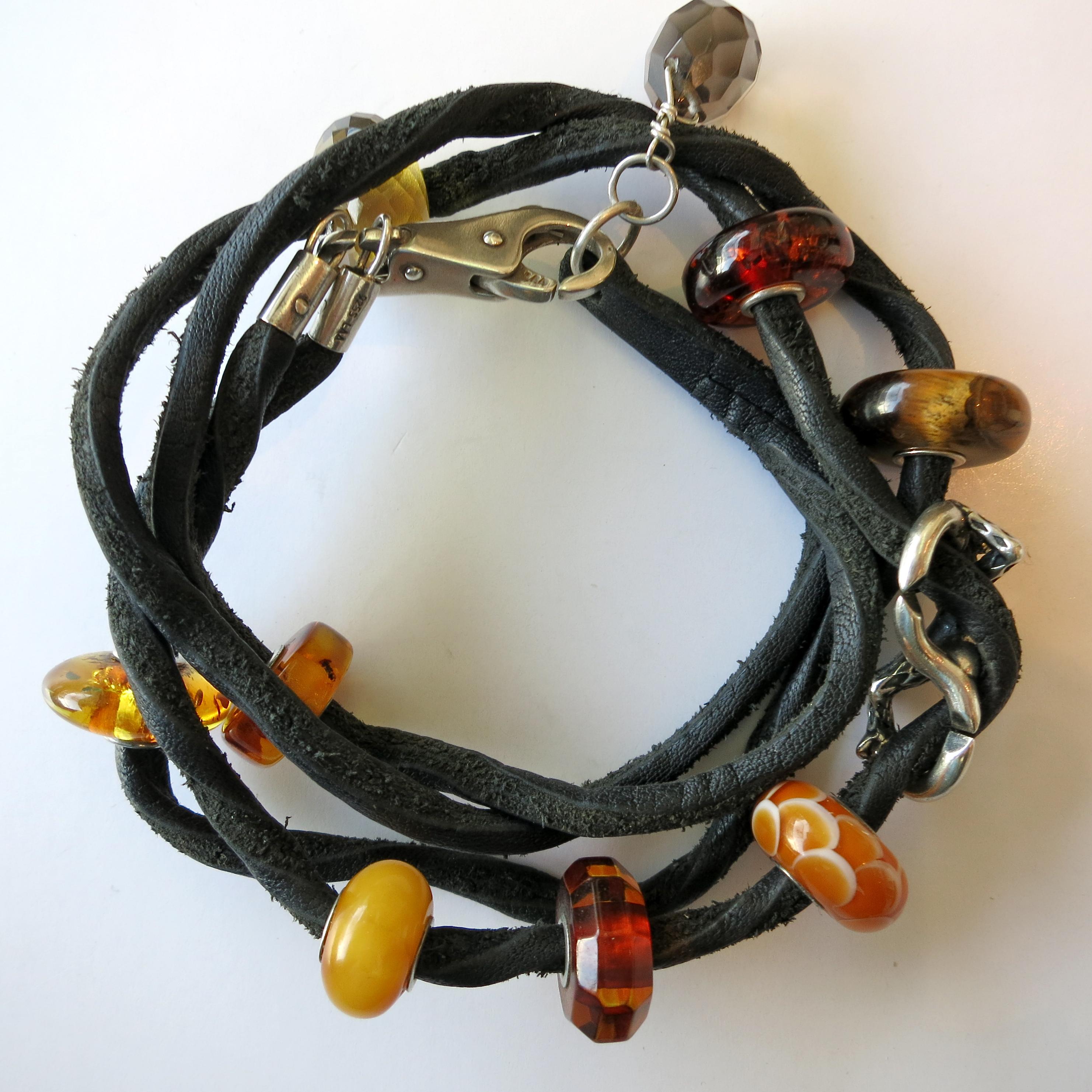 trollbeads leather bracelet – tartooful